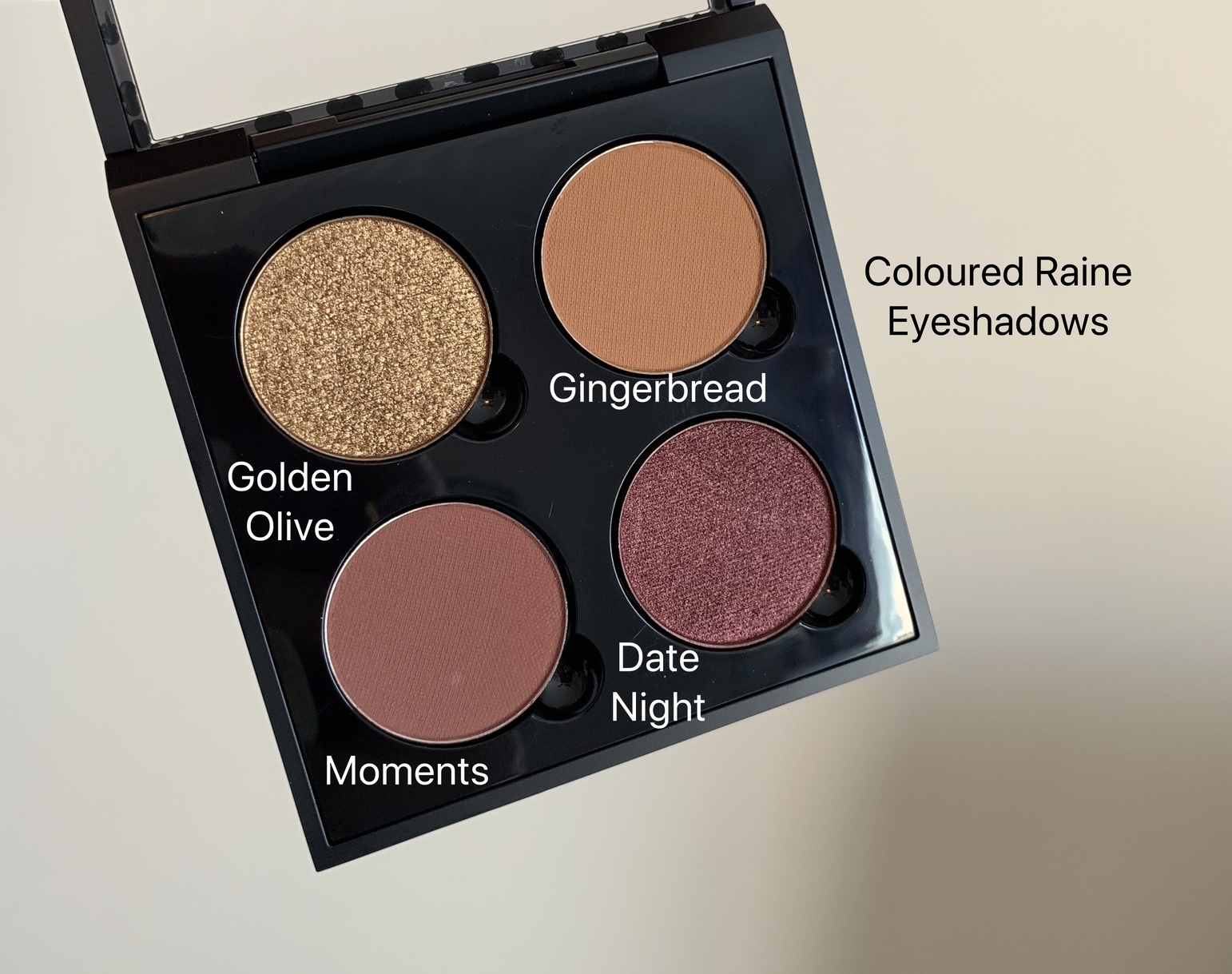 Coloured Raine Single Eyeshadows (golden olive, gingerbread, moments, date night)