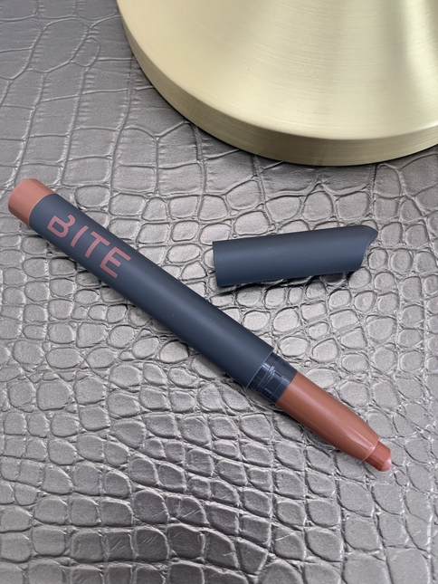 Bite beauty power move creamy matte lip crayon calvados