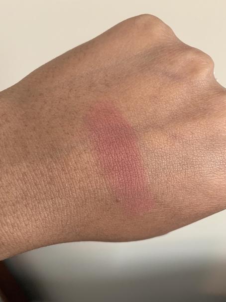 Bobbi Brown Blush in tawny swatch on medium dark skin