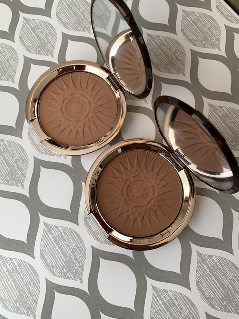 Estee Lauder Ultimate Mineral-Infused Matte Bronzers shades 03 Brazen (medium deep) and 04 Hot Spell (deep)