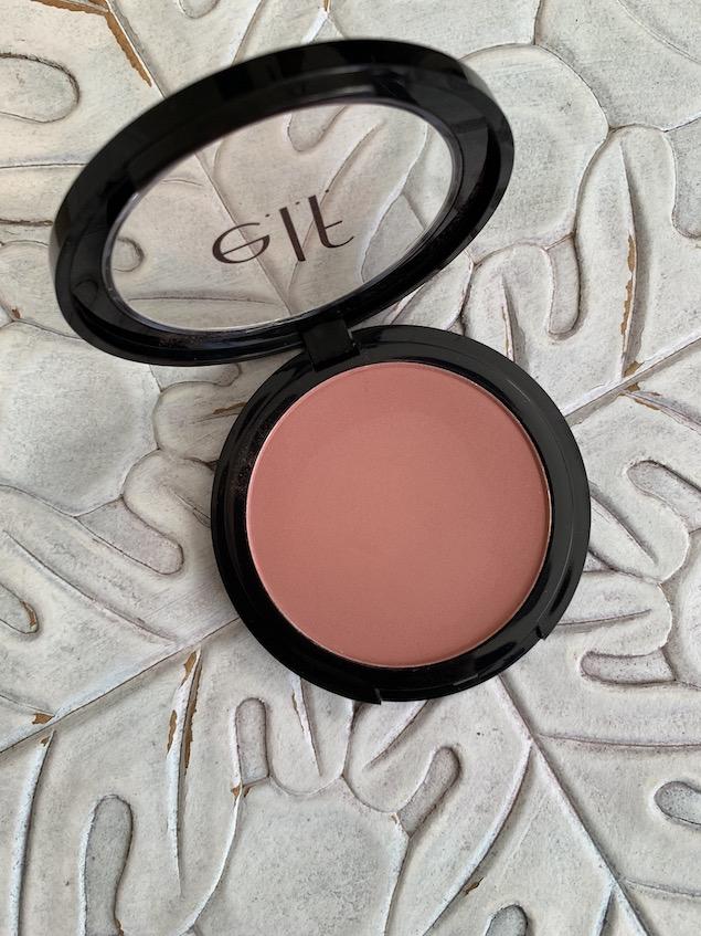 Top 3 Drugstore Blushes under $10 e.l.f primer infused blush always rosy swatch on medium dark skin