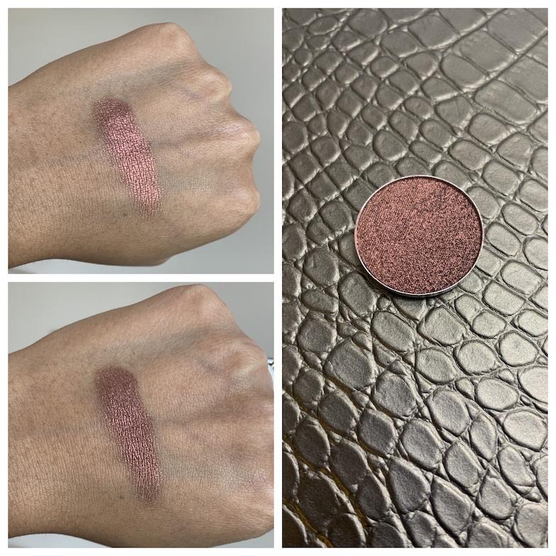 MAC Dazzleshadow Extreme Incinerated swatch on medium dark skin