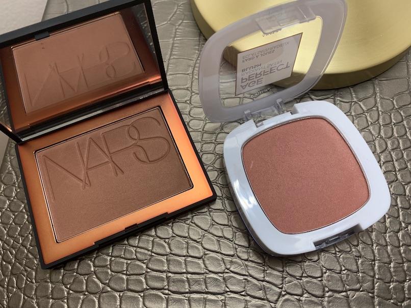 NARS Bronzing Powder in Punta Cana, L'oreal Age Perfect Radiant Satin Blush in 425 Amber