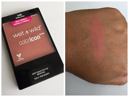 wet n wild color icon blush mellow wine swatch on medium dark skin Top 3 Drugstore Blushes under $10