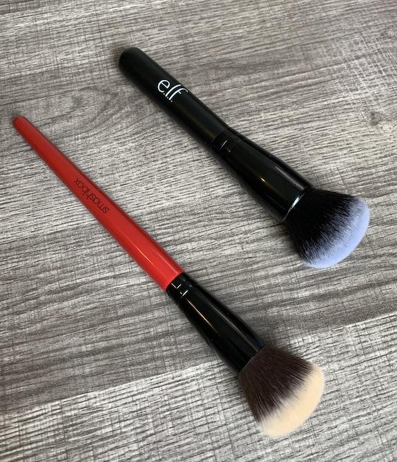elf ultimate blending brush vs smashbox blurring foundation brush
