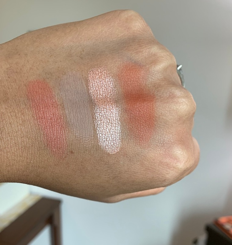 Juvia's place nubian 3 coral palette swatches medium dark skin
