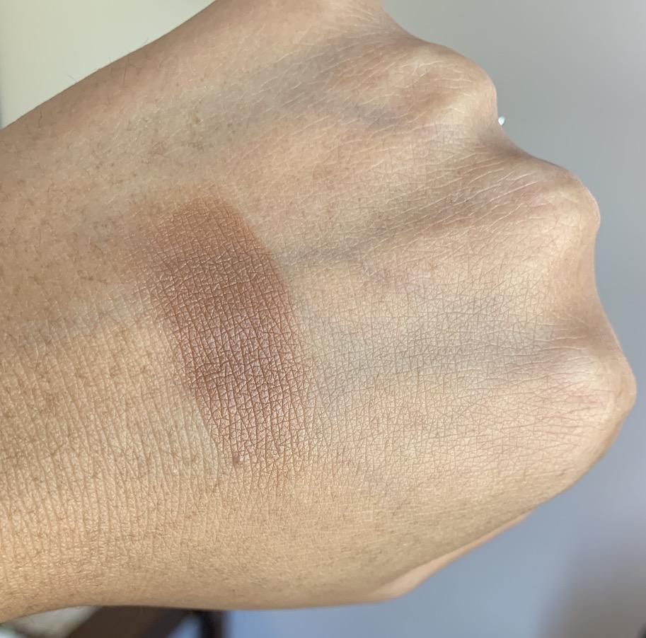 Mac Bronzer Collection Radiant Matte Bronzing Powder in Totally Taupeless swatches on medium dark skin