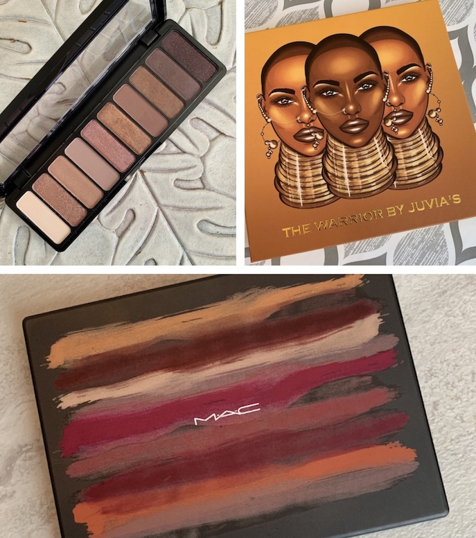 e.l.f. Rose Gold Nude, Juvia's Place The Warrior, Mac Cosmetics Art Library Flame-Boyant underrated eyeshadow Palettes