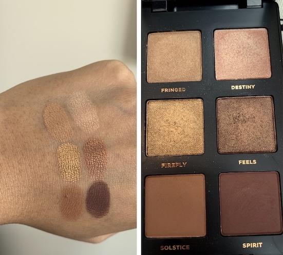 bareMinerals Gen Nude Latte Eyeshadow Palette Swatches dark skin