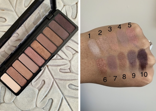 e.l.f Nude Rose Gold Eyeshadow Palette medium dark skin swatches