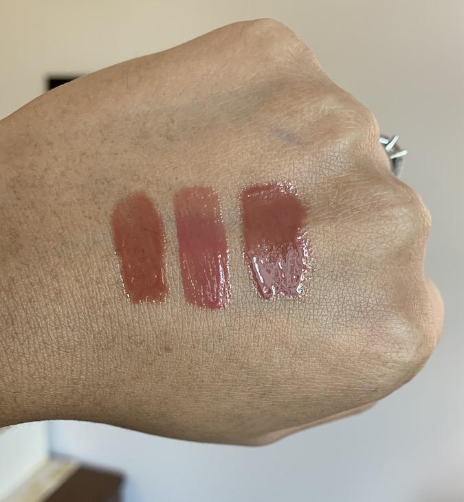 Givenchy Le Rose Perfecto Liquid Balm 14 Nude Soul vs Nars No regrets vs Mac voyeur is me swatches