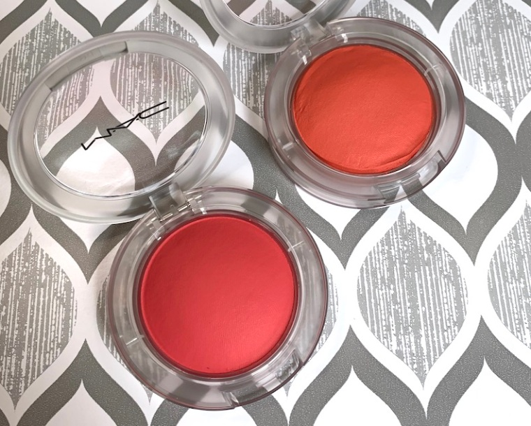 Mac Glow Play Blush heat index and groovy swatches