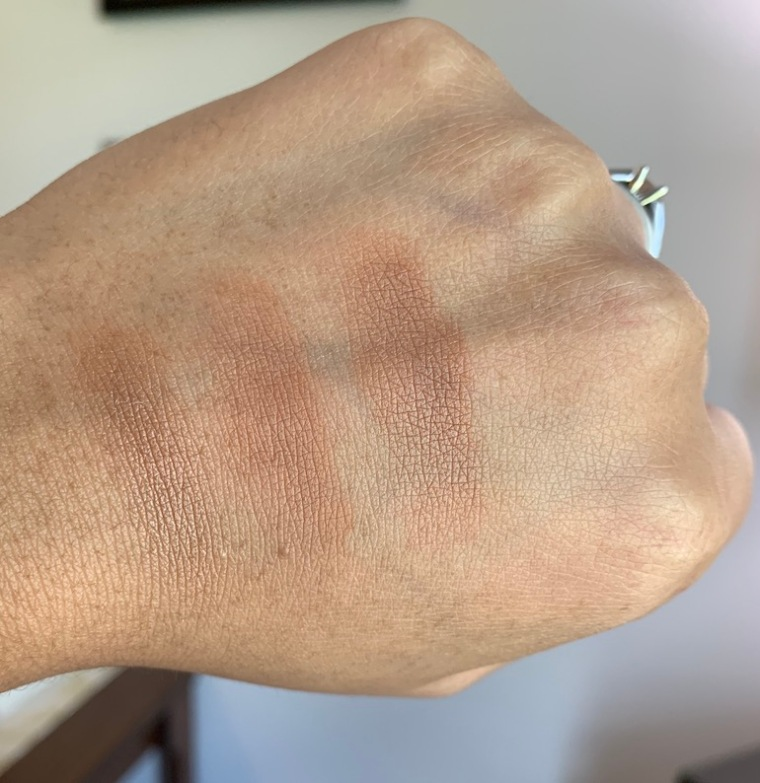 Mac Sun Soaked Strip, Mac Your Wish Is My Command, Mac Totally Taupeless Dark Skin Swatches