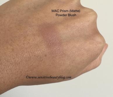 MAC Matte Powder Blush Prism Swatch dark skin