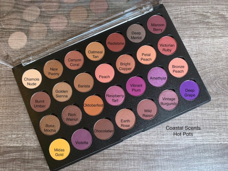 Coastal Scents Hot Pots Haul and Eyeshadow Swatches
