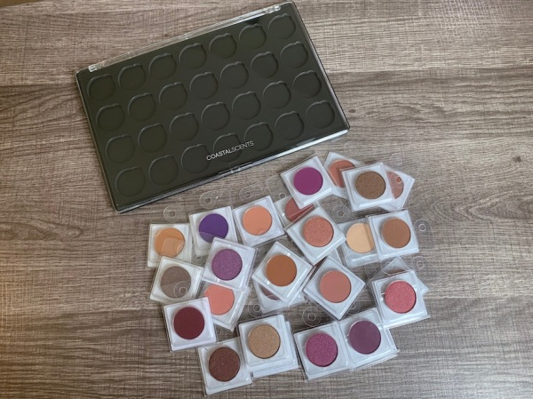 Coastal Scents Hot Pots Haul and Swatches, build your own eyeshdow palette