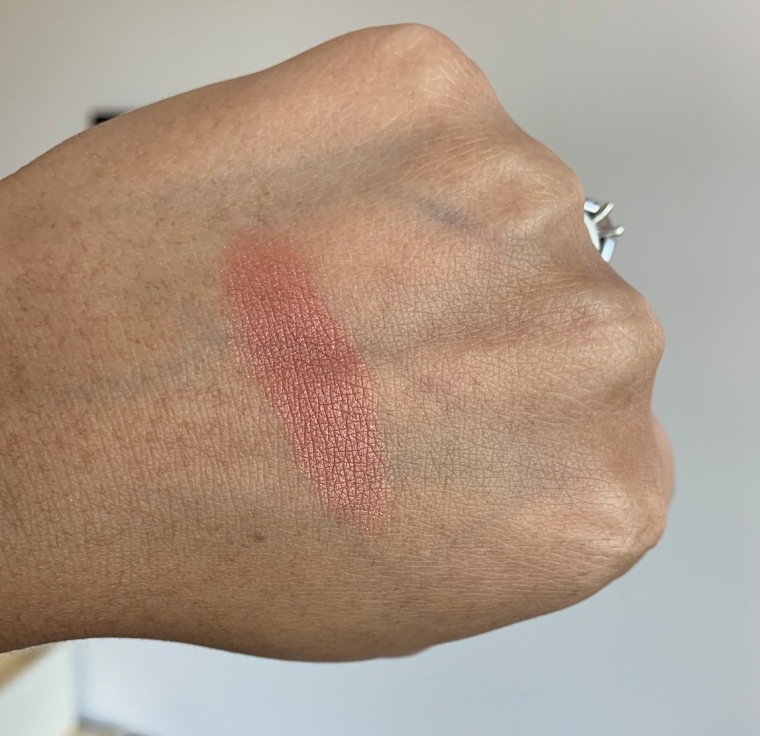 Milani Baked Powder Blush in Sunset Passione Swatch