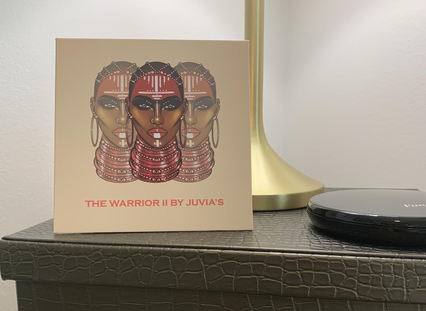 Juvia's Place The Warrior 2 Eyeshadow Palette Swatches on Medium Dark Skin woc