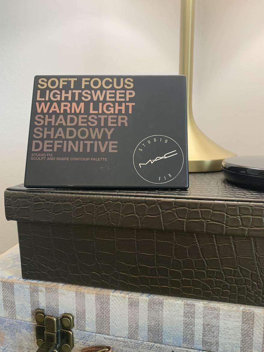 MAC Cosmetics Medium Dark Dark Sculpt and Shape Contour Palette Powder Swatches on C8, NC44/NC45 skin tone