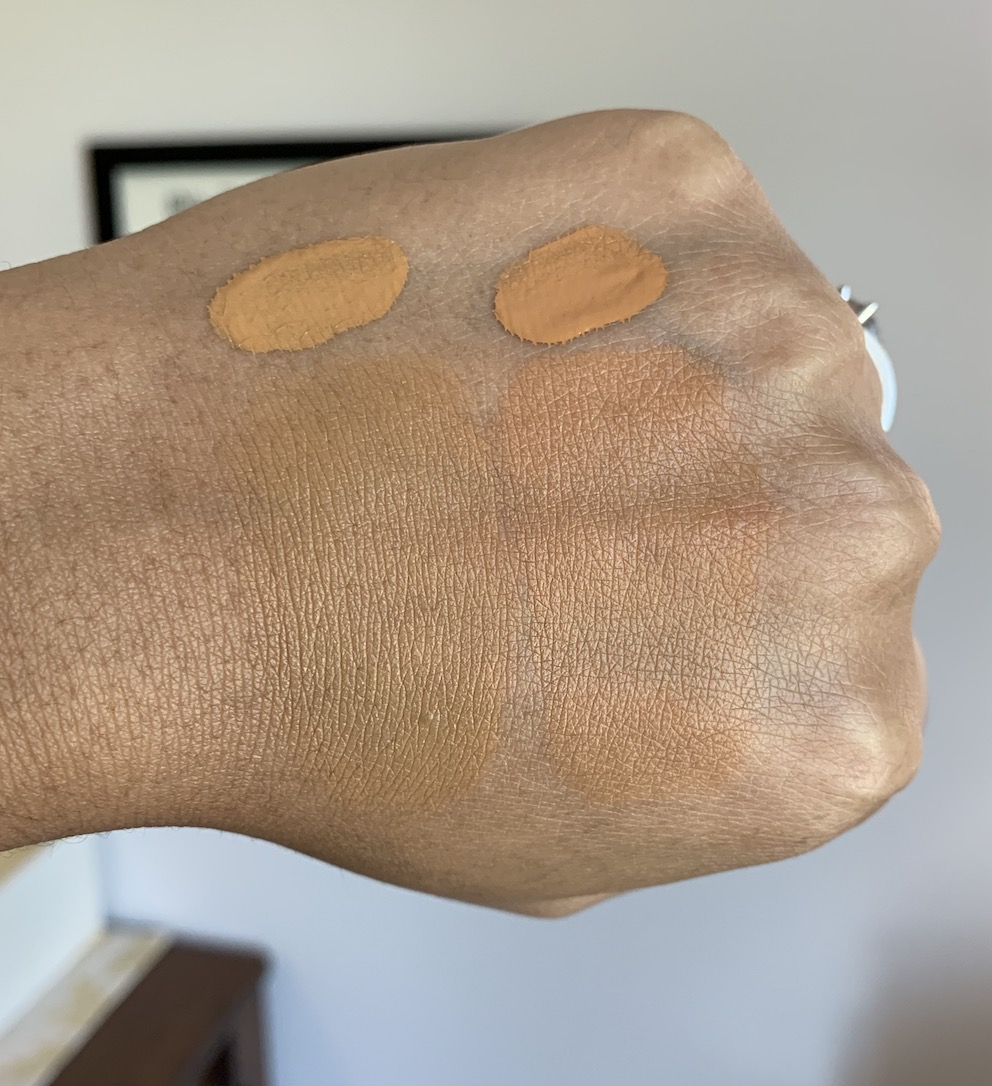 MAC Studio Fix Fluid in C8 and NC45 Swatches