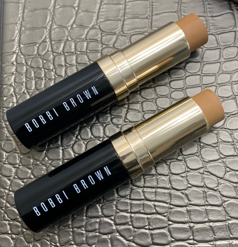 Bobbi Brown Skin Foundation Stick in golden (W-074/previously 6) and golden honey (W-068/previoulsy 5.75)