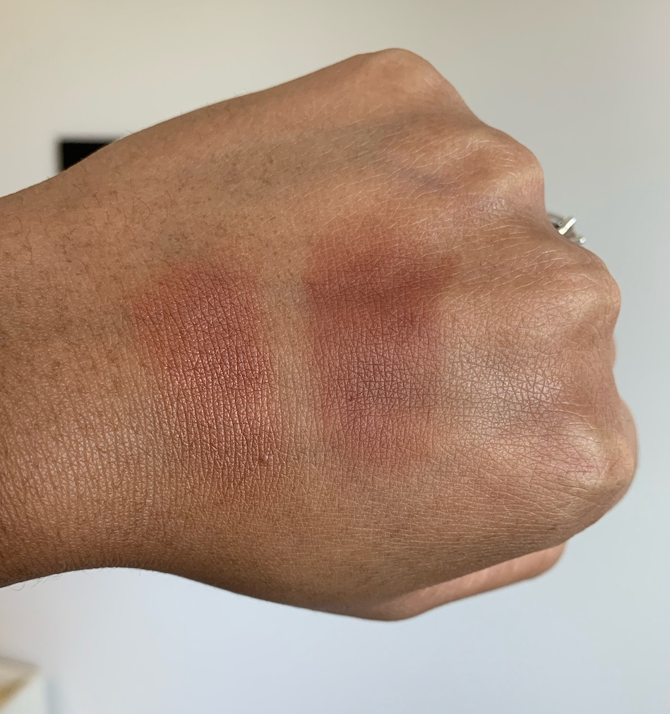NARS Savage Blush Swatch and MAC Raizin Blush Swatch