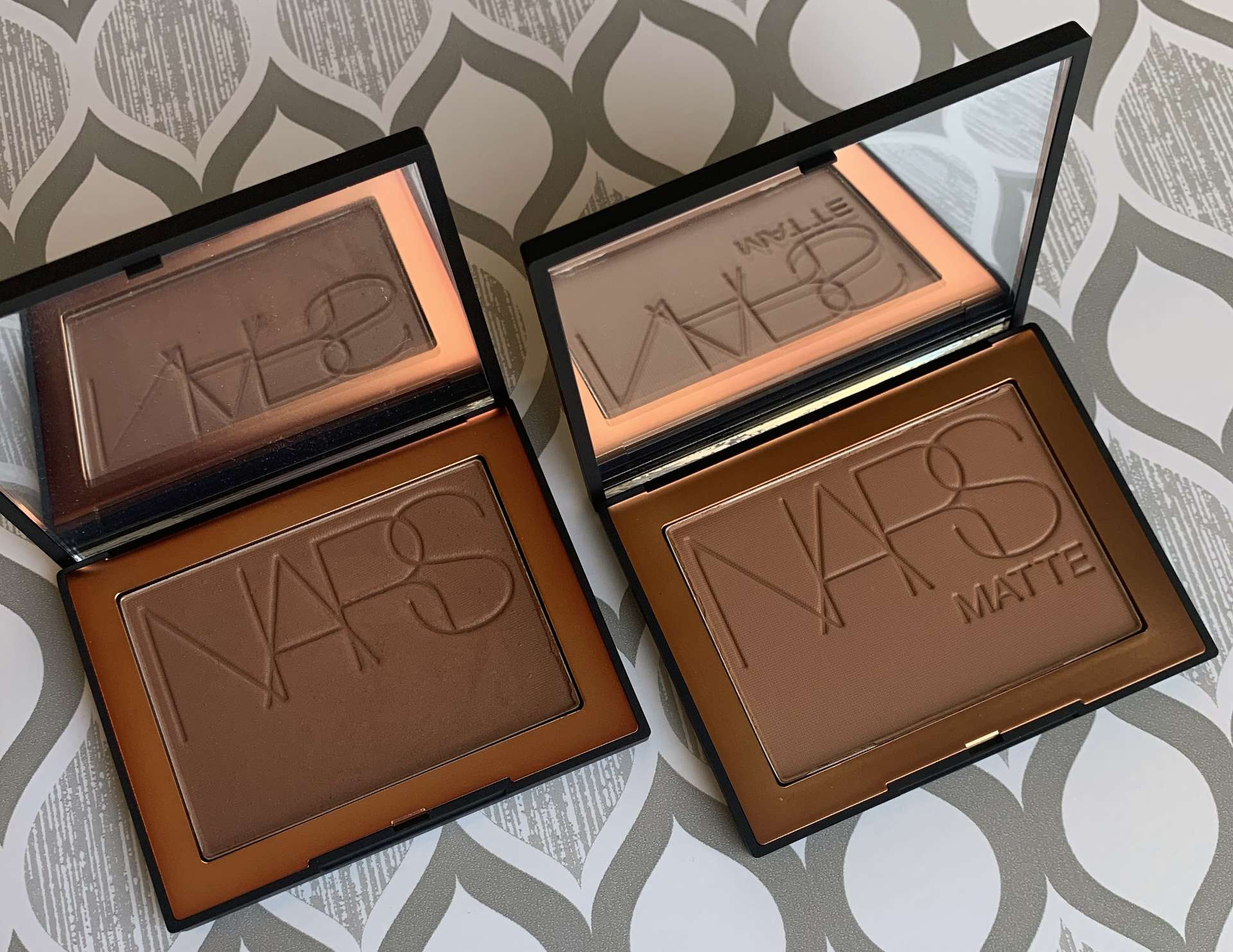 NARS Matte Bronzing Powder Punta Cana and Samoa bronzer swatches medium dark skin