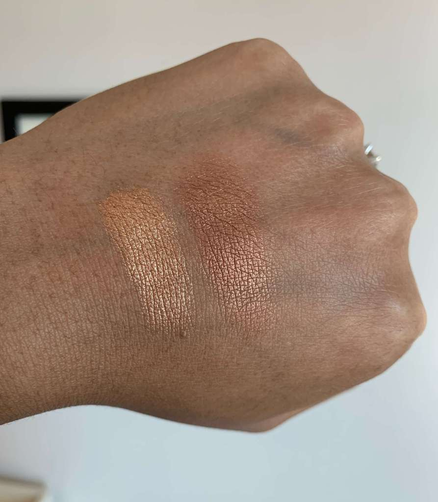 NARS isolde eyeshadow duo swatches dark skin