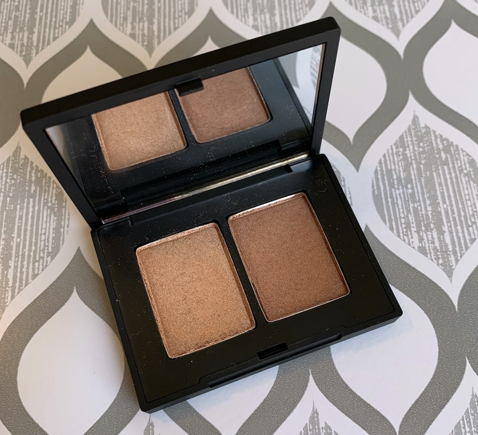 NARS eyeshadow duo isolde swatches dark skin
