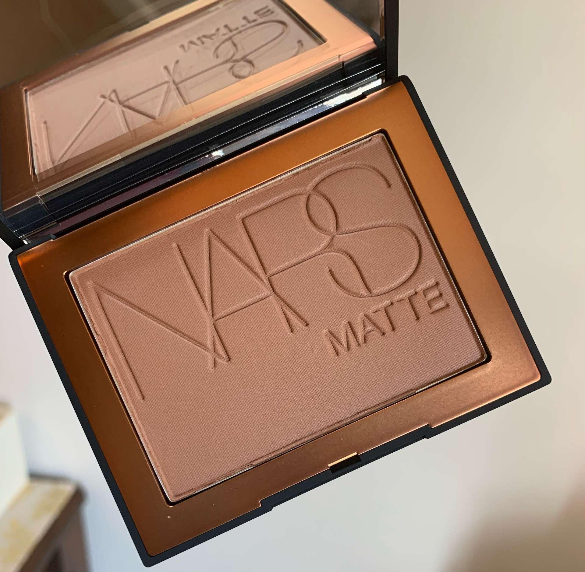 NARS Matte Bronzing Powder in Samoa swatch on medium dark skin