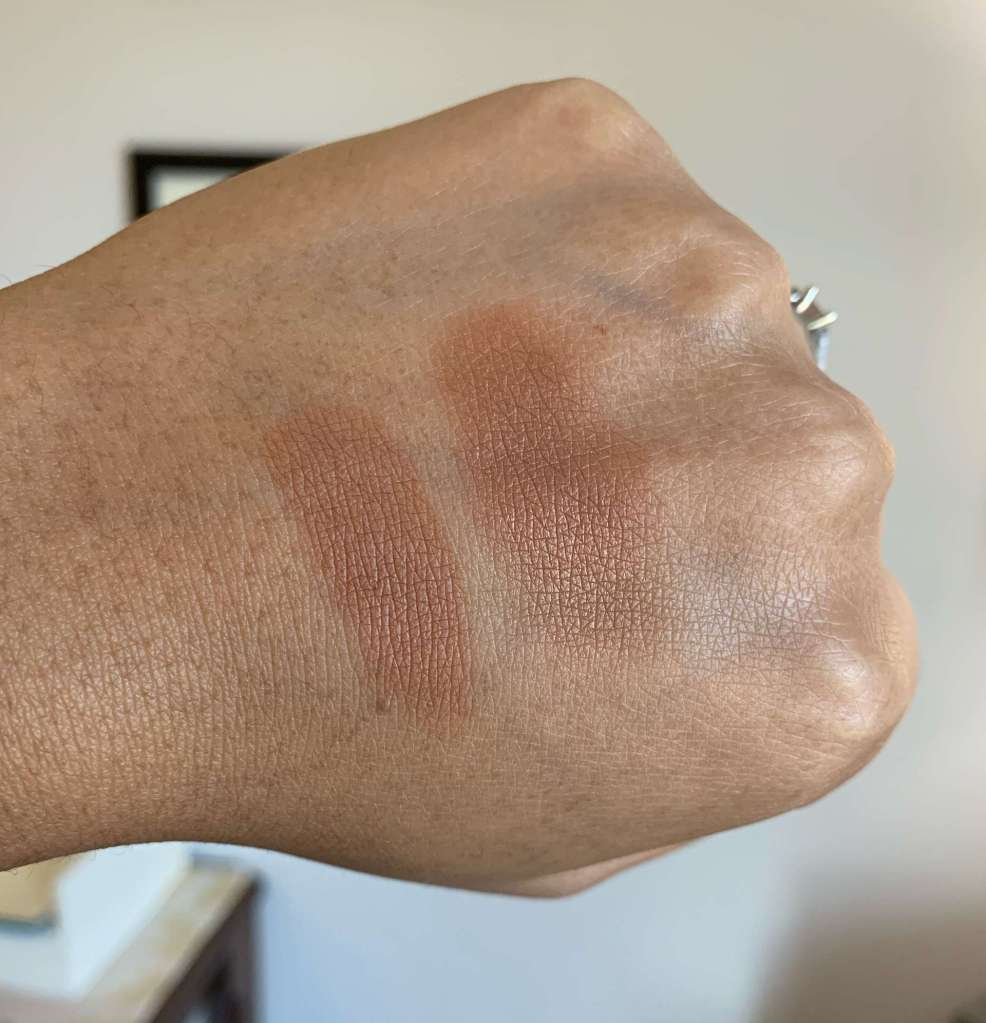 NARS Matte Bronzing Powder Samoa and Punta Cana Bronzer Swatches dark skin