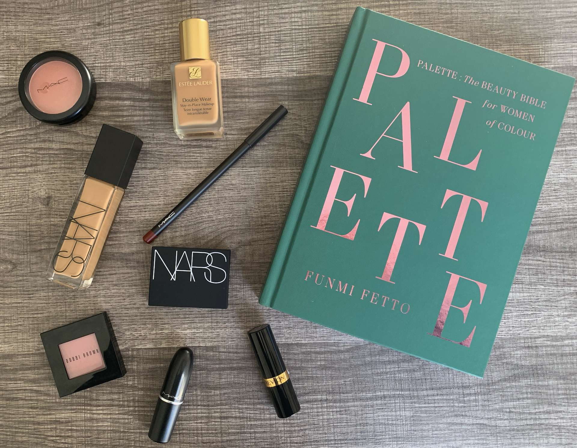 Palette: The Beauty Bible for Women of Colour Book Review and swatches of featured products