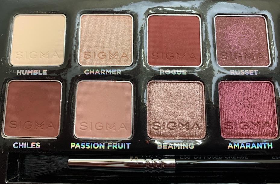 Sigma Warm Neutrals Eyeshadow Palette Swatches