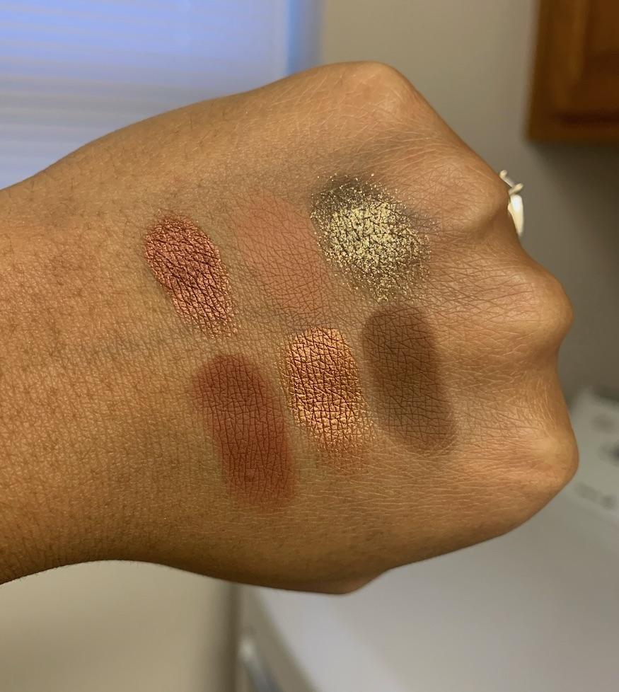 Sigma Warm Neutrals Eyeshadow Palette Swatches medium dark skin woc