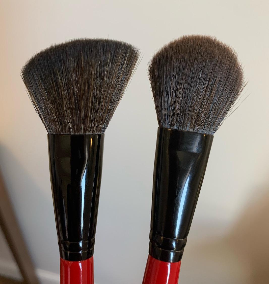 Smashbox Brush Review (angled blush and precise blush)