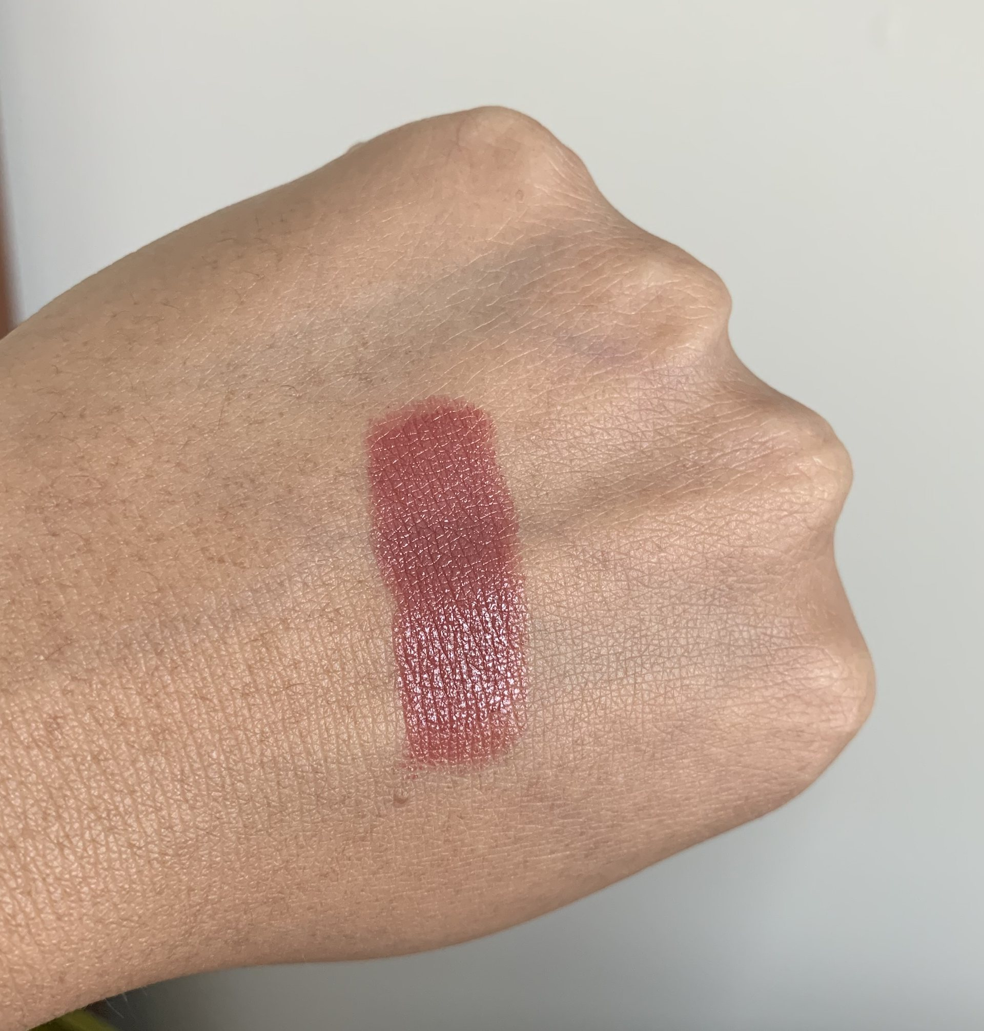 MAC Love Me Lipstick Bated Breath swatch dark skin