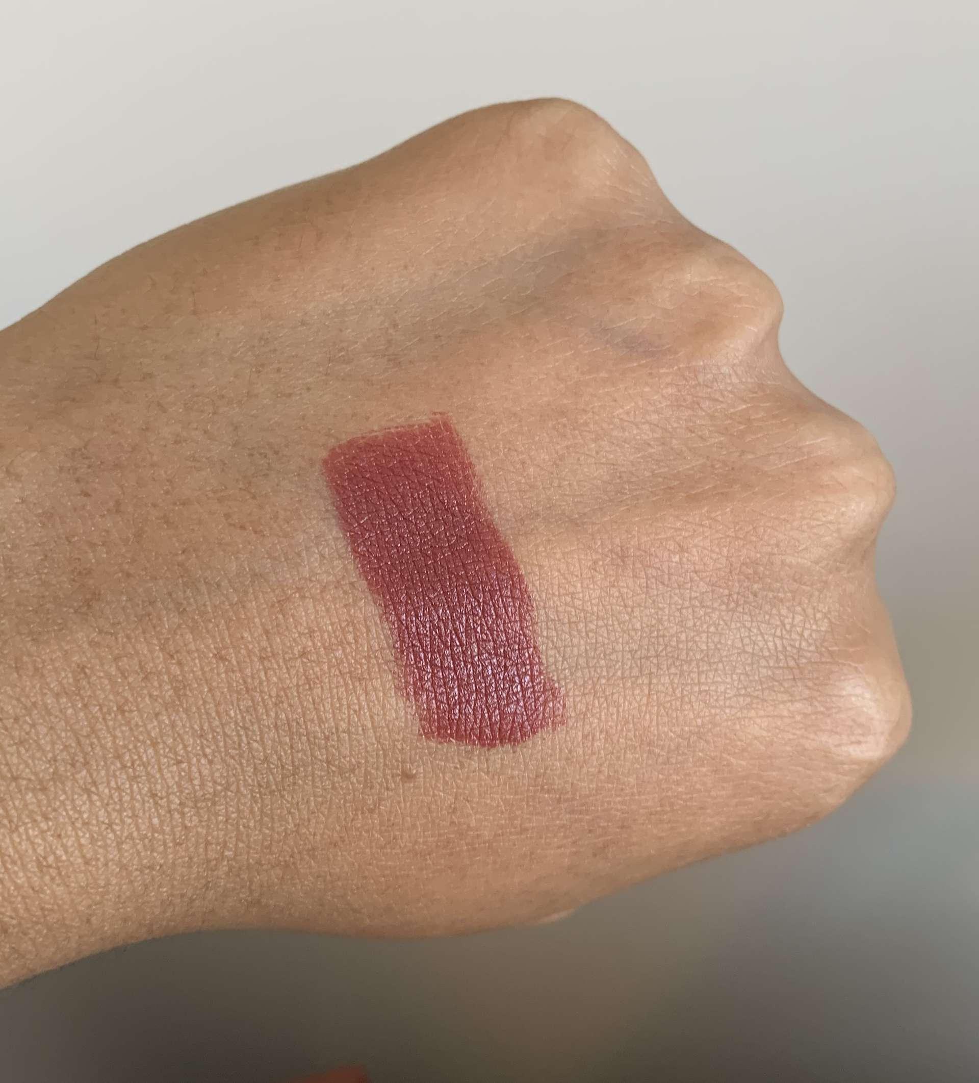 MAC Del Rio Satin Lipstick swatch dark skin