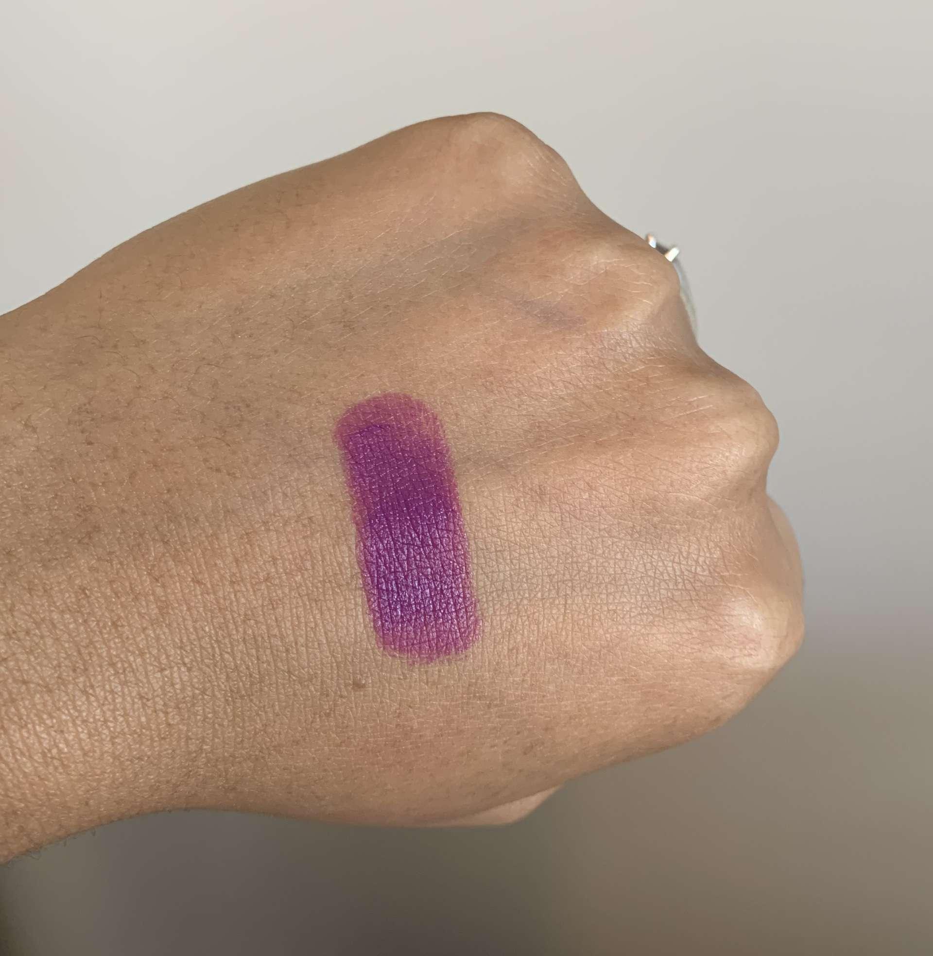 MAC Heroine Matte Lipstick swatch dark skin