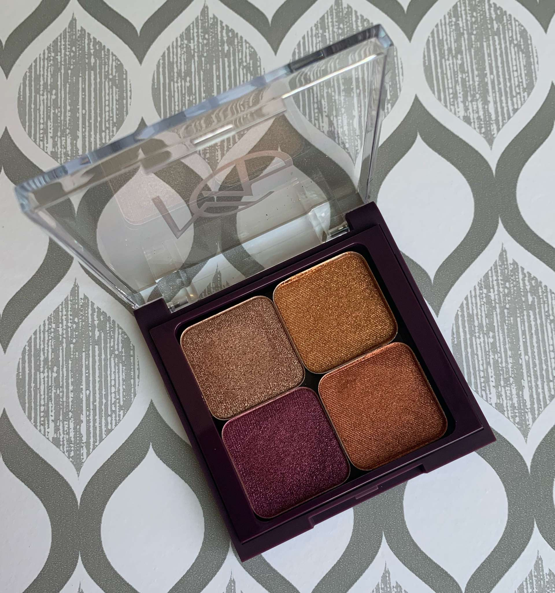 Makeup Geek Foiled Eyeshadow Swatches Grandstand, Legend, Mystical, Flame Thrower on dark skin