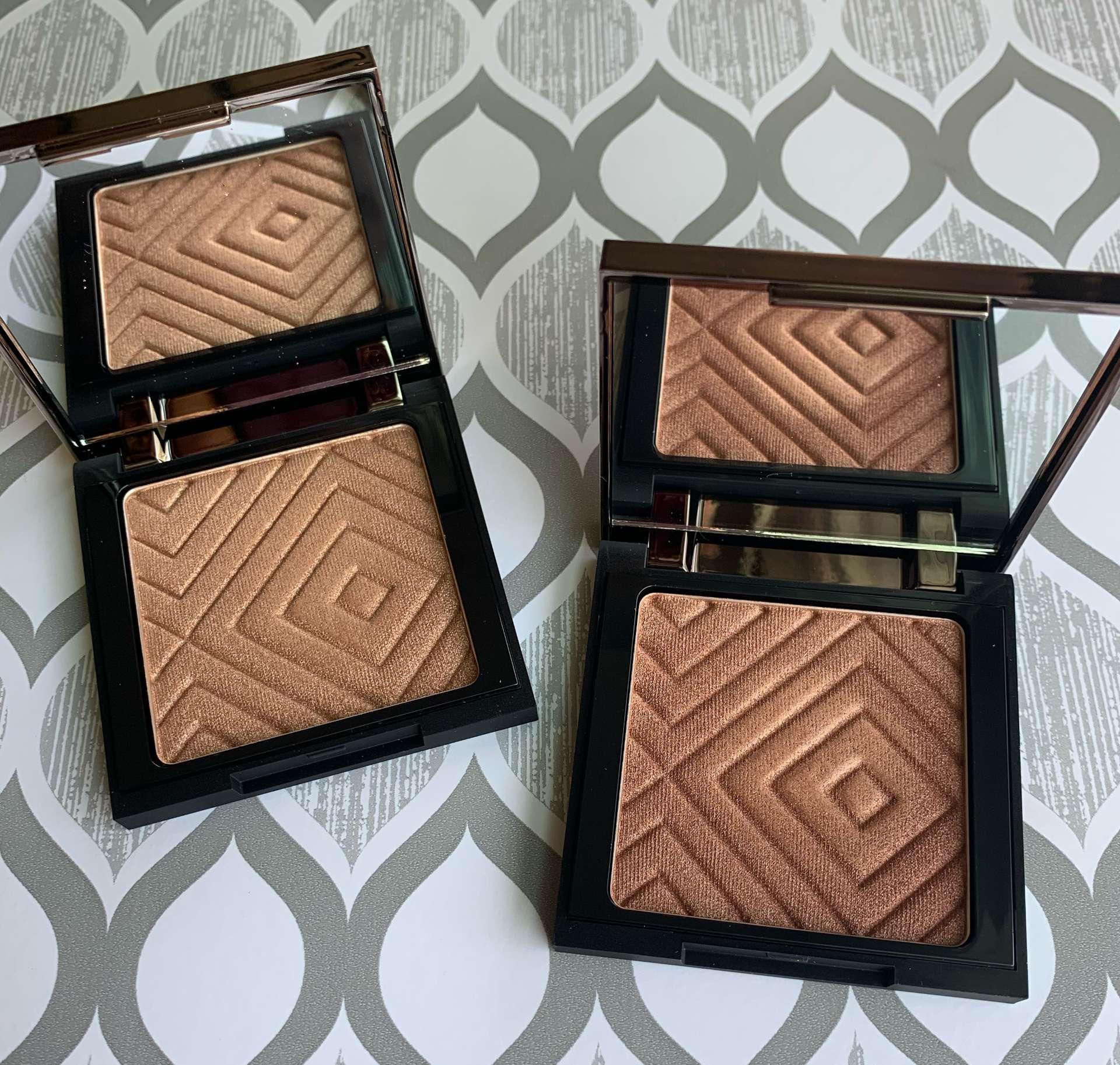 Makeup Geek Highlighters Sunlight and Firework Swatches medium dark skin