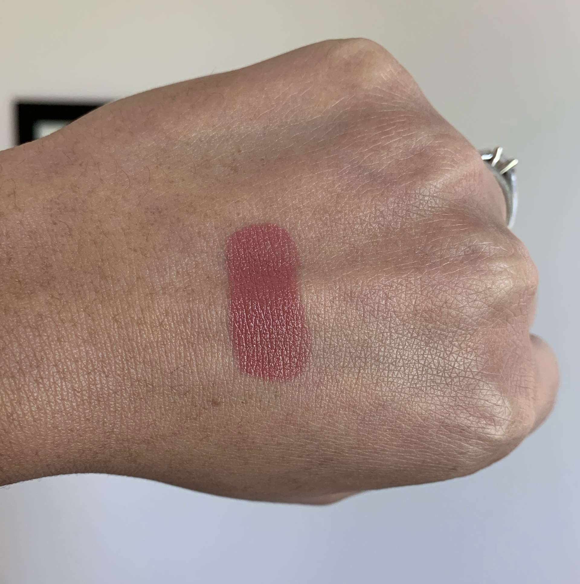 NARS Satin Lipstick Tolede swatch medium dark skin