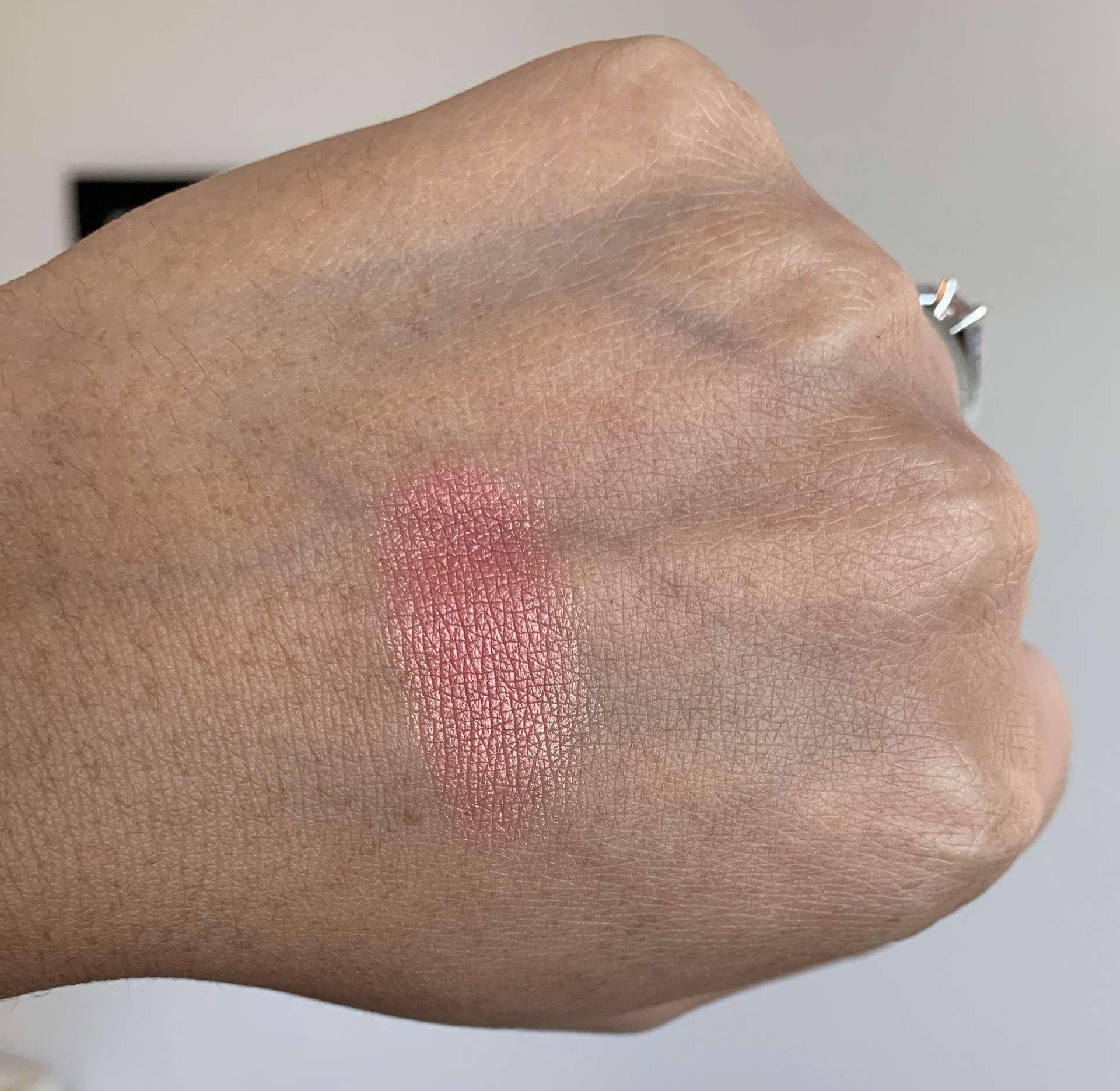 NARS Orgasm X Blush Swatch on Medium Dark Skin