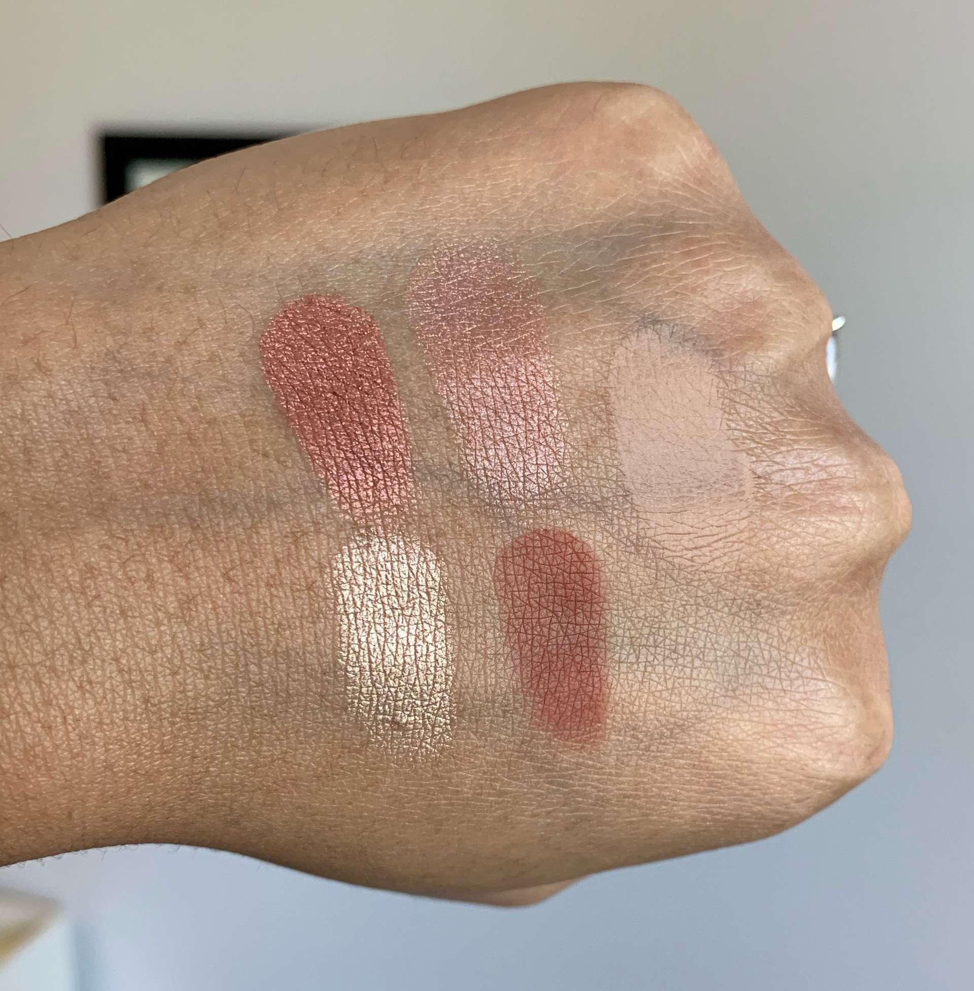 Bobbi Brown The Essential Multicolor Eye Shadow Palette in Warm Cranberry Swatches on Medium Dark Skin