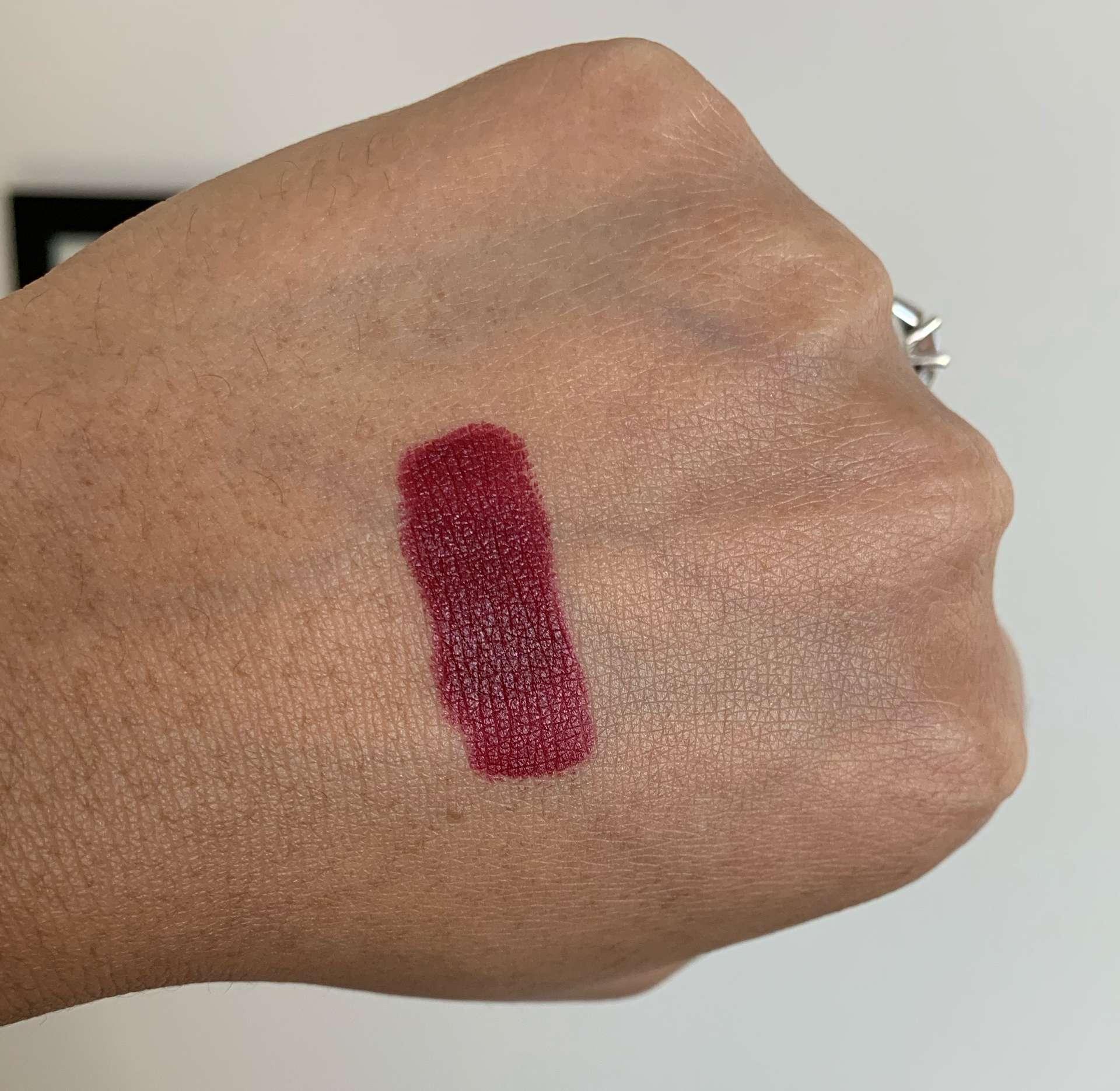MAC Diva Matte Lipstick Swatch on Medium Dark Skin