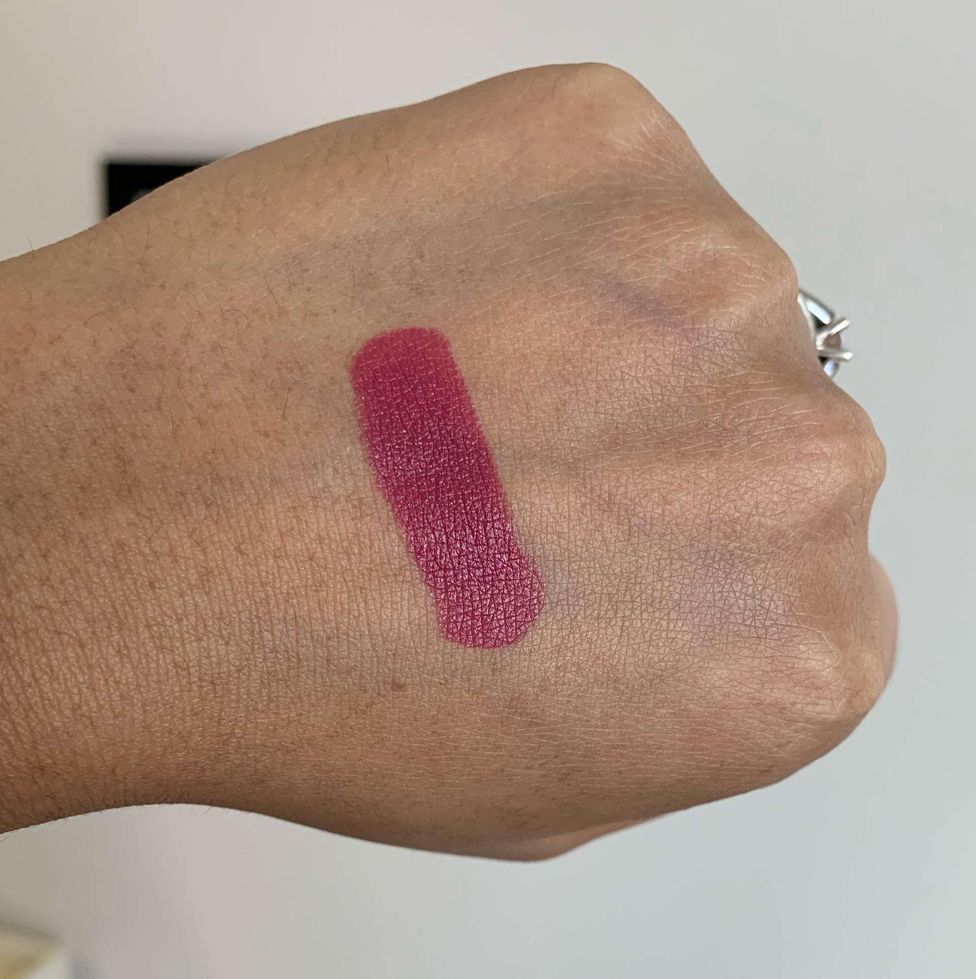 MAC Captive Satin Lipstick Swatch on Medium Dark Skin