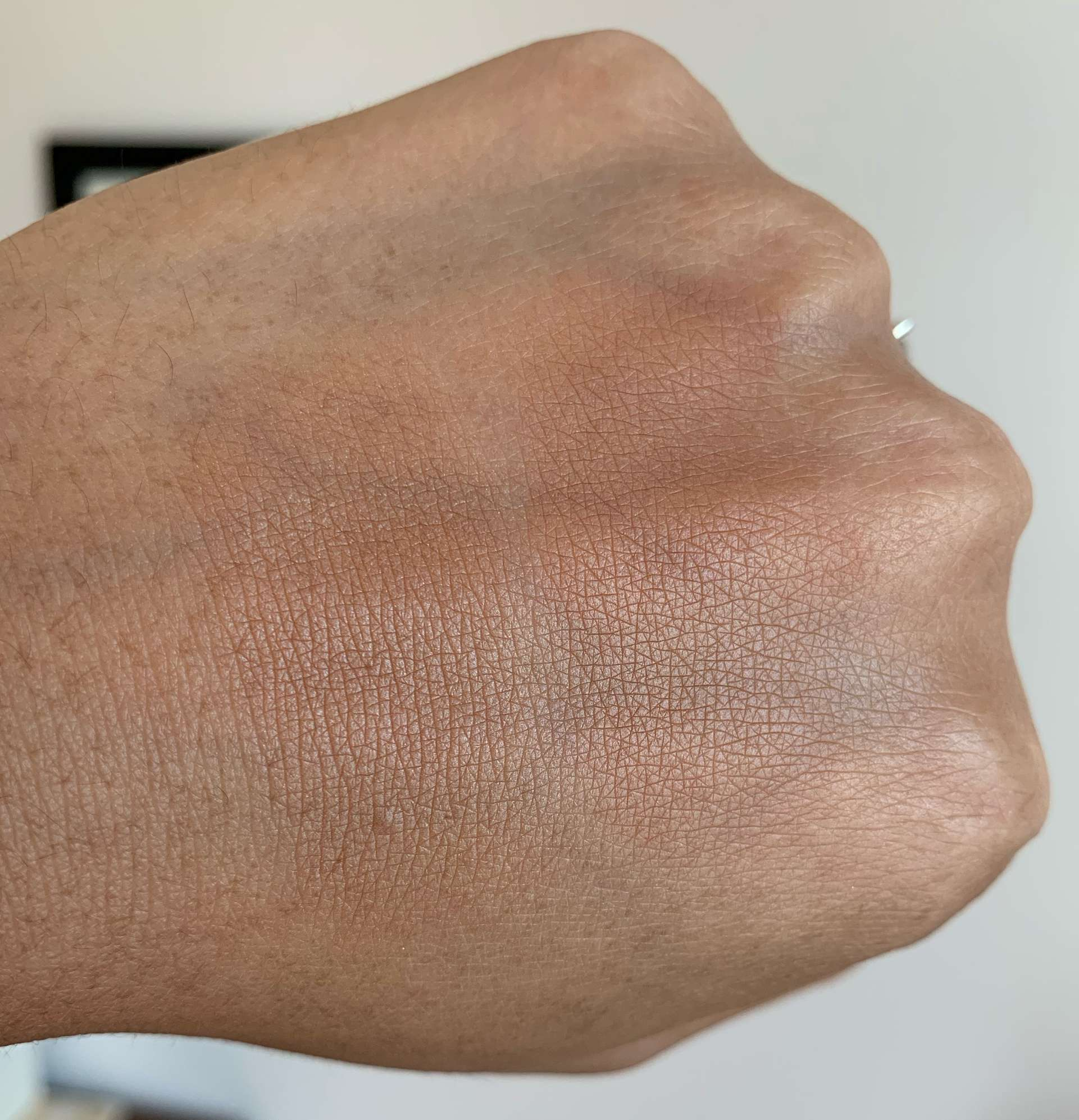 MAC Sun Soaked Strip Bronzer and NARS Somoa Matte Bronzer Swatches on Medium Dark Skin