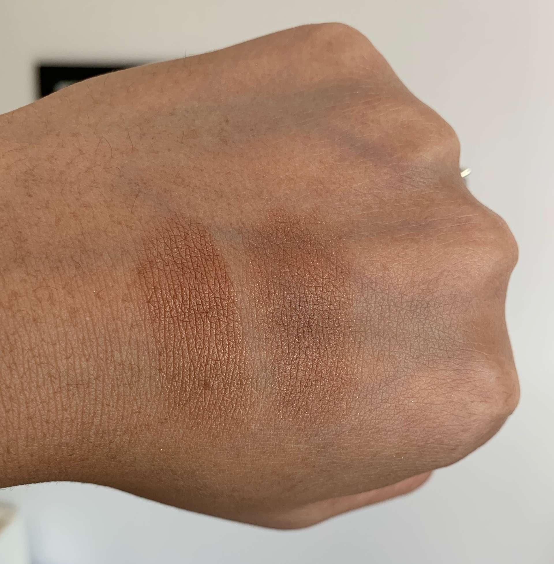 Loreal Lumi Bronze It 03 Deep vs NARS Punta Cana Bronzing Powder Swatches Medium Dark Skin