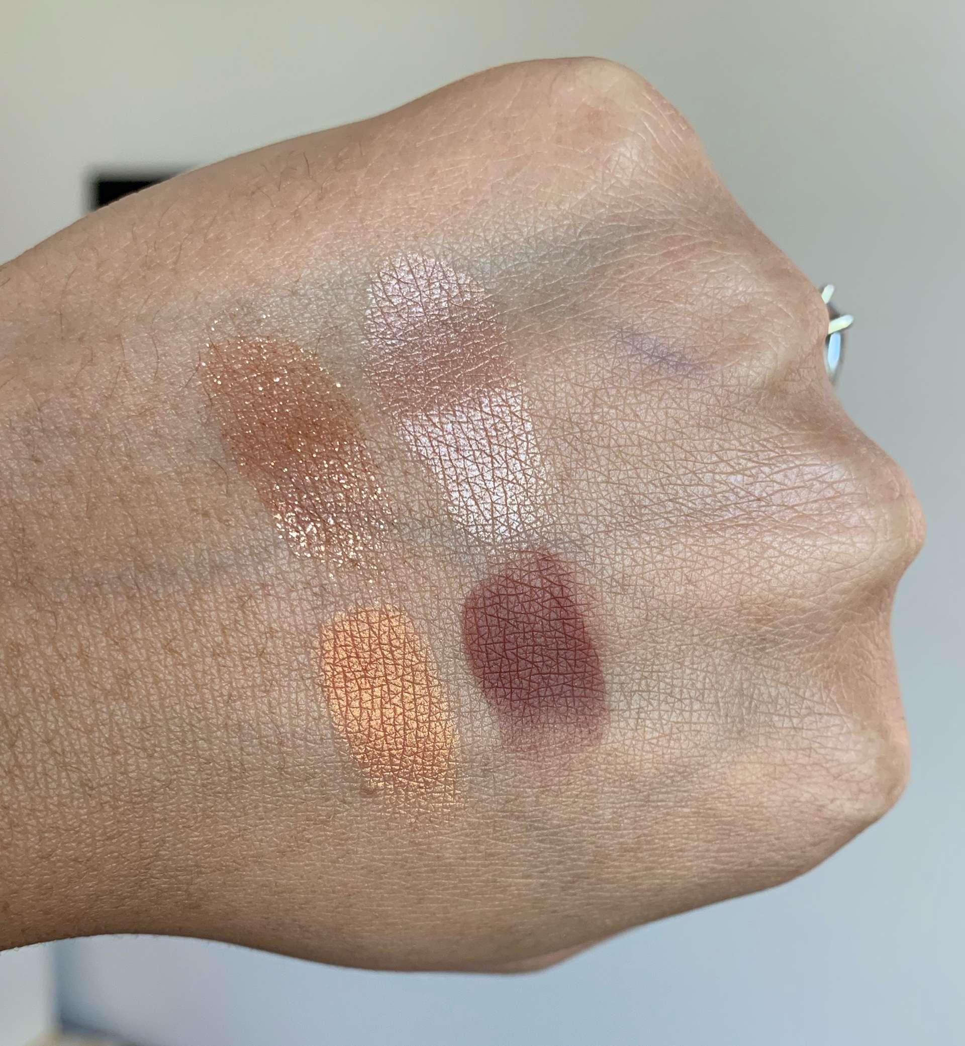 NARS Taj Mahal Eyeshadow Quad Swatches on Medium Dark Skin