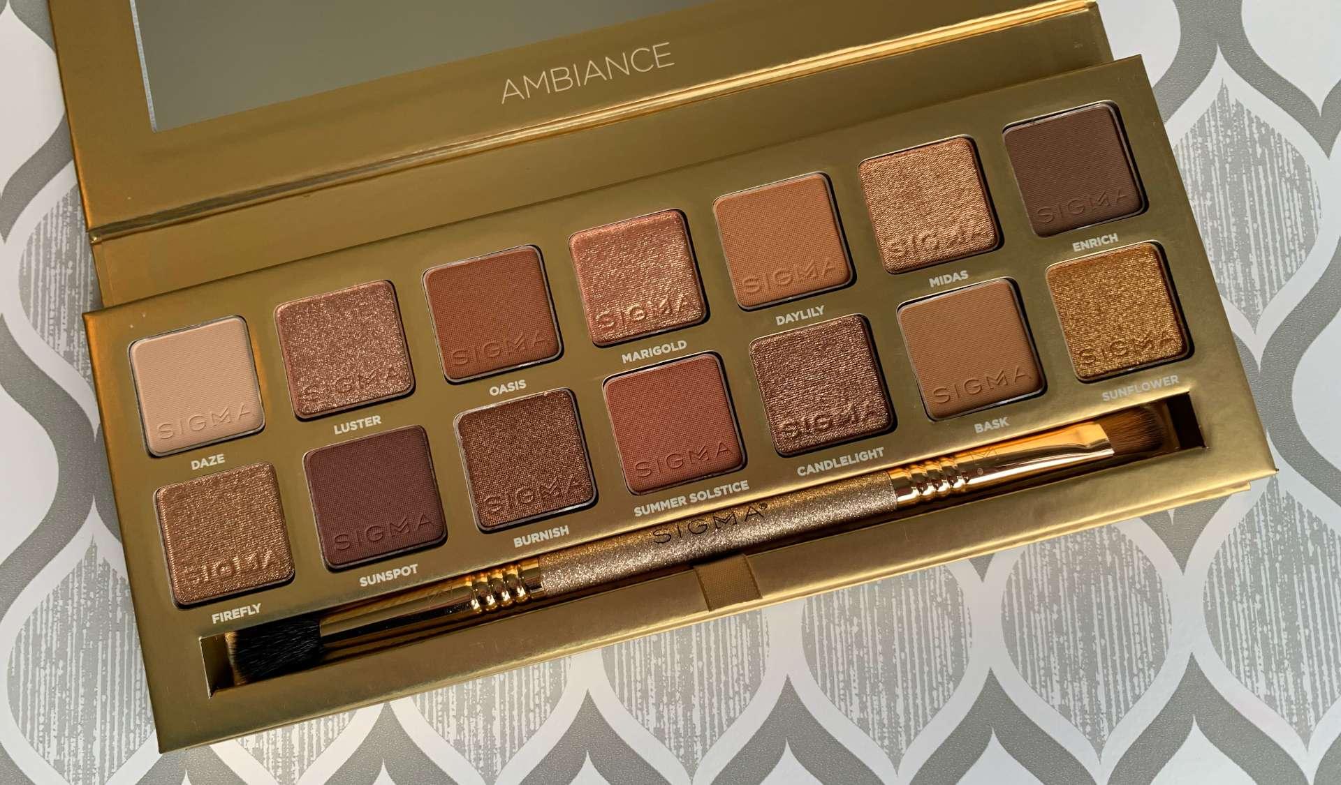 Sigma Beauty Ambiance Eyeshadow Palette Swatches on Medium Dark Skin
