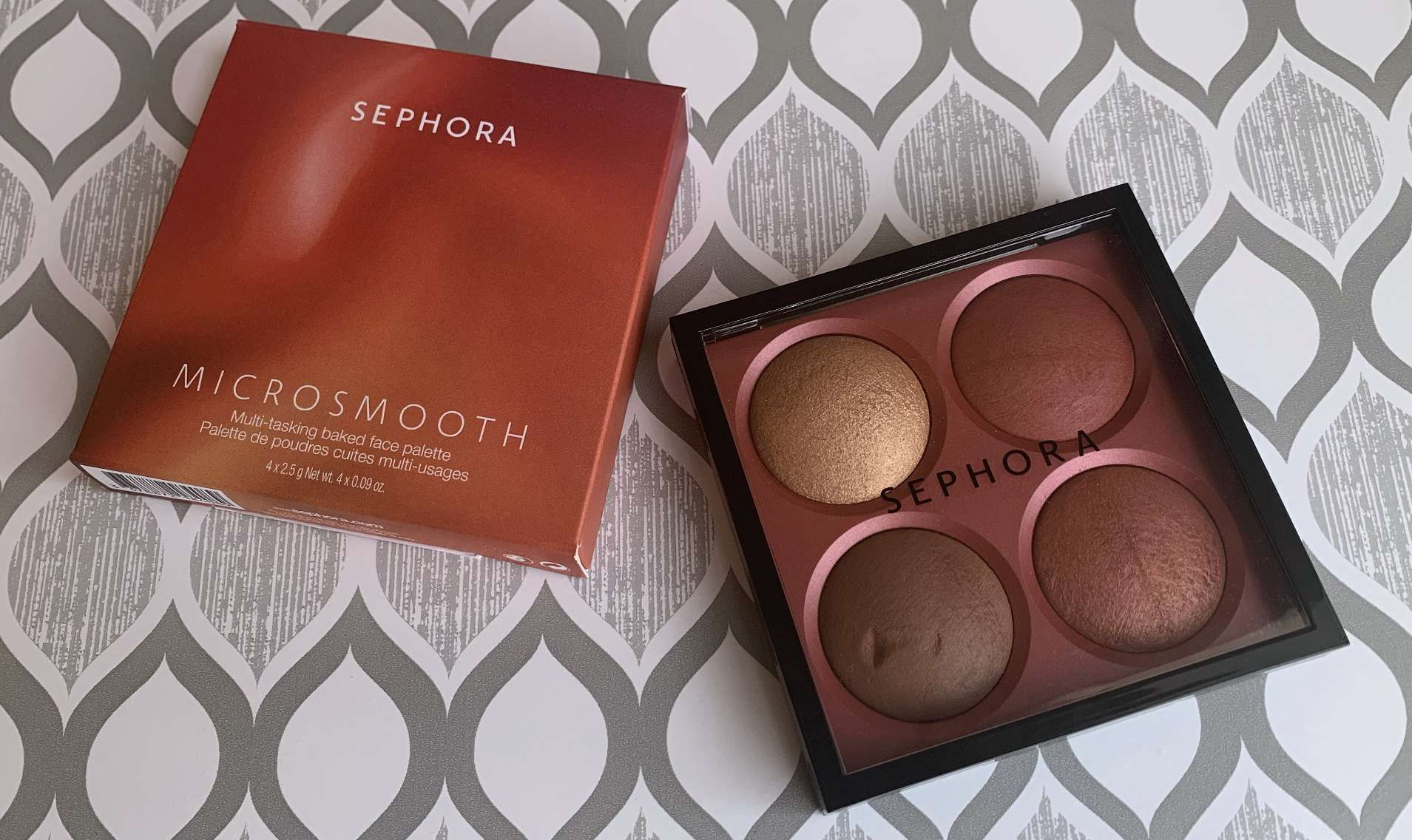 Sephora Microsmooth Multi-tasking Baked Face Palette in Captivate Swatches